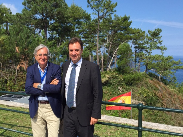 Eduardo Albors con Julio Fuentes